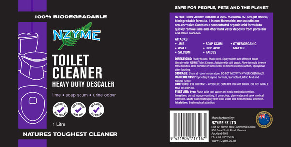 NZYME Toilet Cleaner 1 Litre Ready To Use
