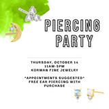 October Piercing Party