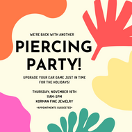 November Piercing Party