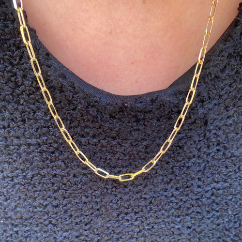 "4.0mm Paper Clip Chain Necklace 20"""