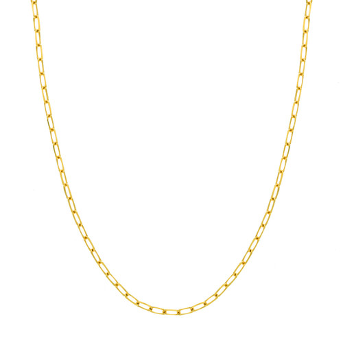 14KT 4.0mm Paper Clip Chain Necklace