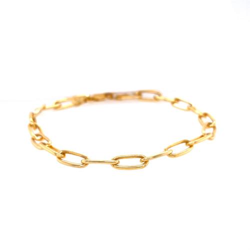 5.00mm Yellow Gold Forzentina Chain Bracelet.