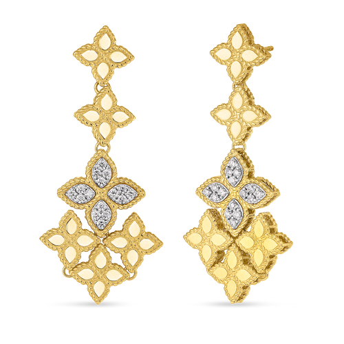 Diamond Princess Flower Earrings