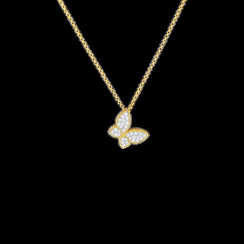 Diamond Princess Butterfly Pendant Necklace