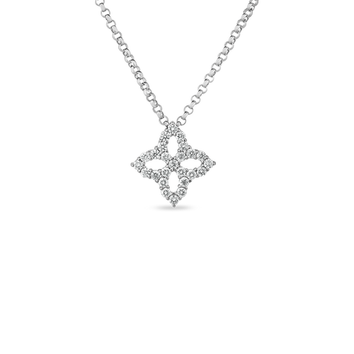 Princess Flower Diamond Pendant