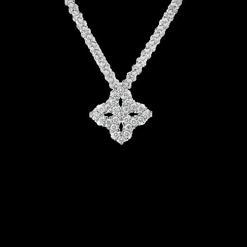 18KT Princess Flower Diamond Pendant