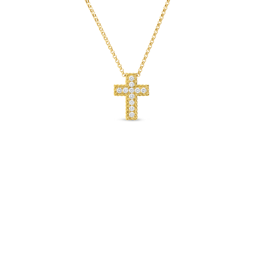 Princess Flower Cross Pendant Necklace