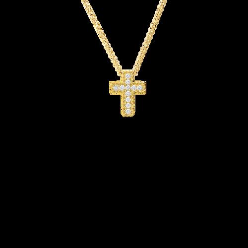 Princess Flower Cross Pendant Necklace