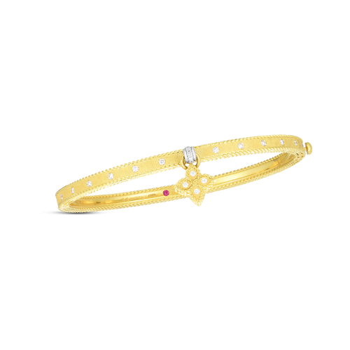 Symphony Princess Flower Bangle with Charm
