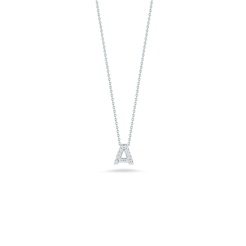 18KT Diamond Initial Necklace