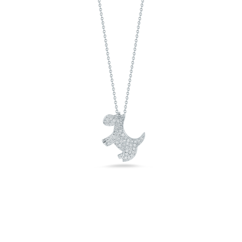 Diamond Scotty Dog Necklace