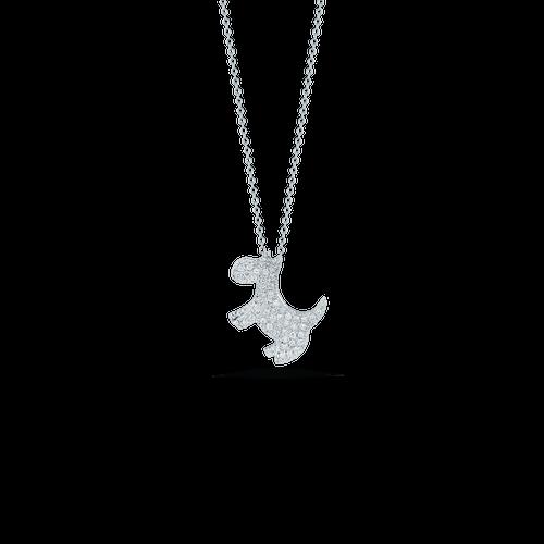 Diamond Scotty Dog Necklace