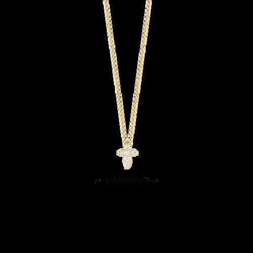 Diamond Baby Cross Pendant Necklace