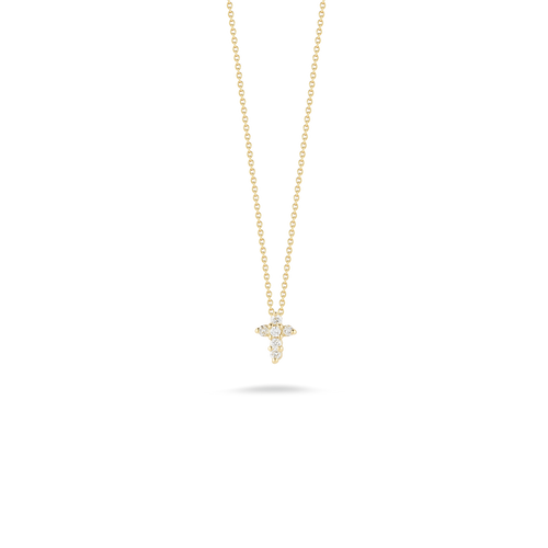 Diamond Baby Cross Pendant Necklace