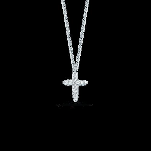 18KT Cross Pendant with Diamonds