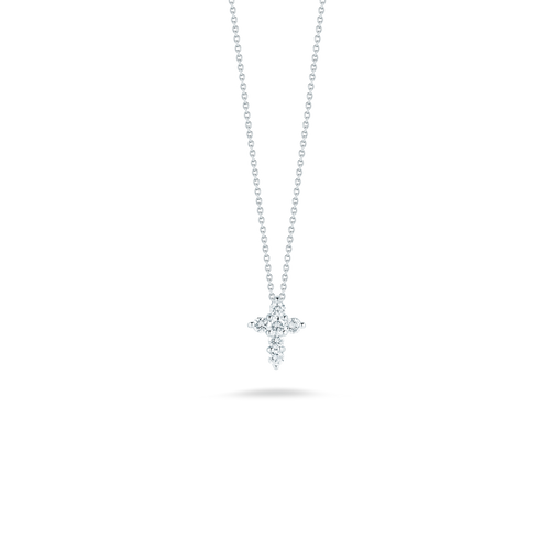 Diamond Large Baby Cross Necklace