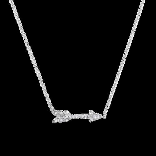 18KT Diamond Arrow Necklace