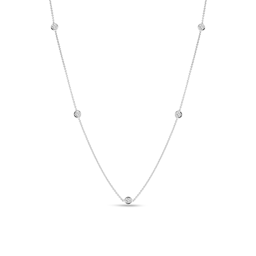 18KT Five Station Diamond Necklace