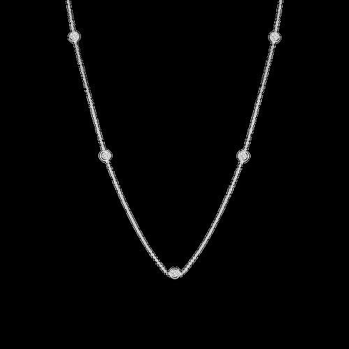 White Gold 5 Station Diamond Necklace