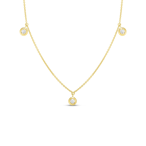 Three Station Dangling Diamond Necklace