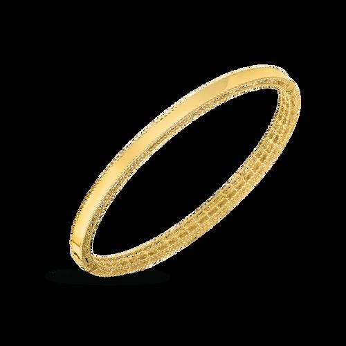 Yellow Gold Princess Oval Bangle