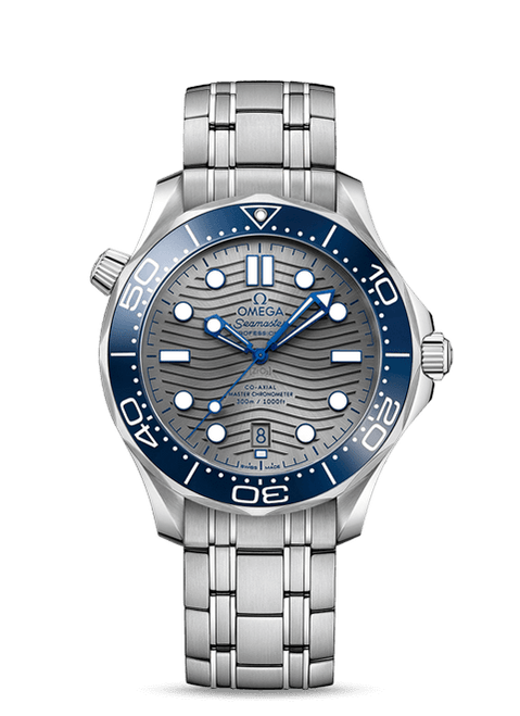Seamaster Diver 300M Omega Co-Axial Master Chronometer 42 mm Grey Dial
