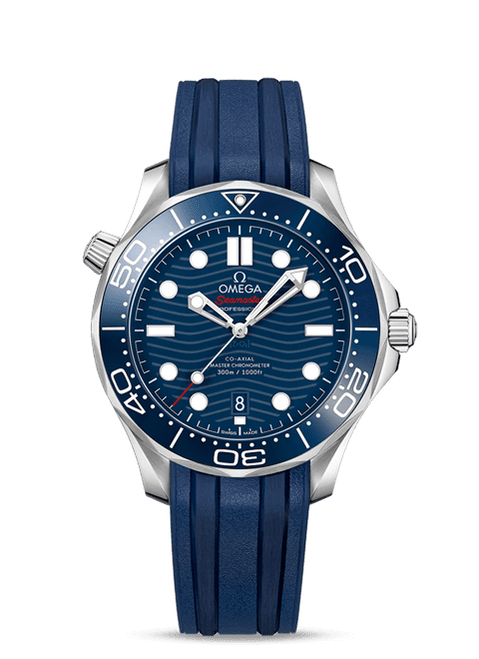 Seamaster Diver 300M Omega Co-Axial Master Chronometer 42 mm Blue Dial