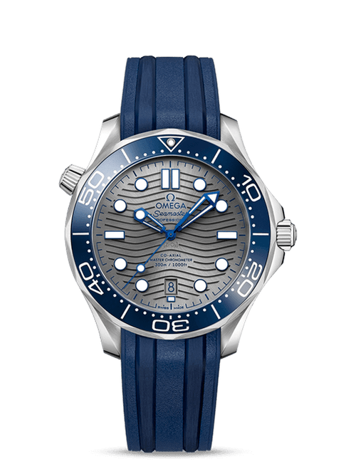 Seamaster Diver 300M Omega Co-Axial Master Chronometer 42 mm Blue Rubber Strap