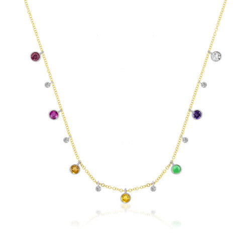 Rainbow Bezel Necklace