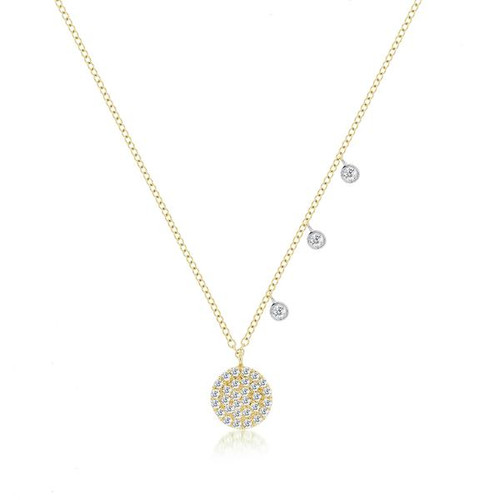 Diamond Pave Signature Disc Necklace
