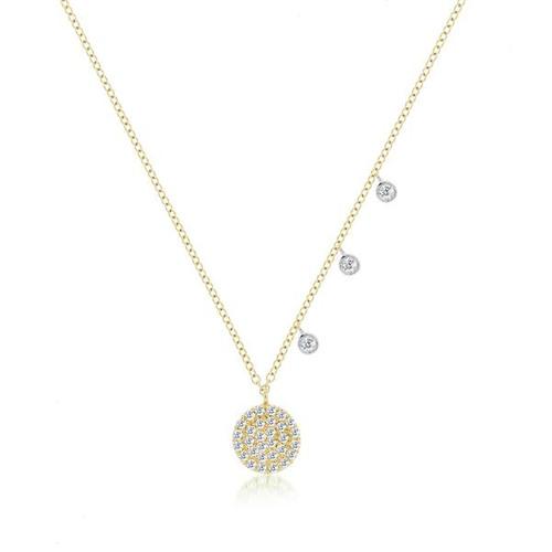 Diamond Pave Signature Disc Necklace