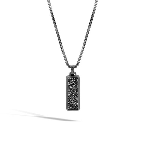 Men's Black Classic Chain Pendant Necklace