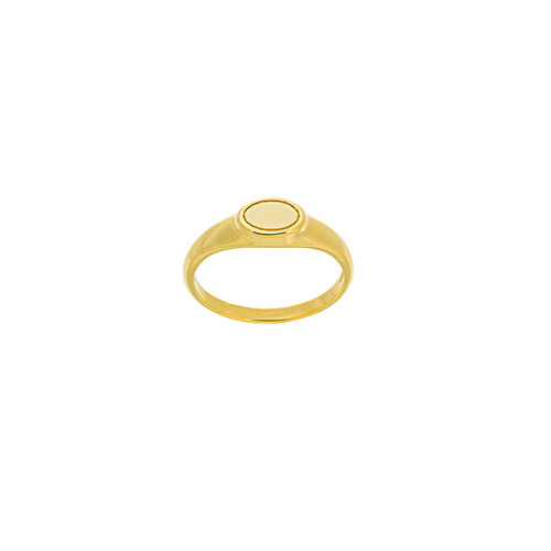 Mini Oval Plate Ring