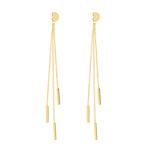 14KT Cable Chain and Bar Earring Extensions