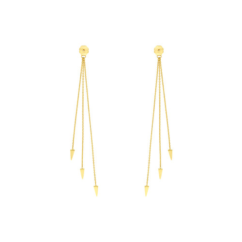 14KT Cable Chain and Dagger Earring Extensions