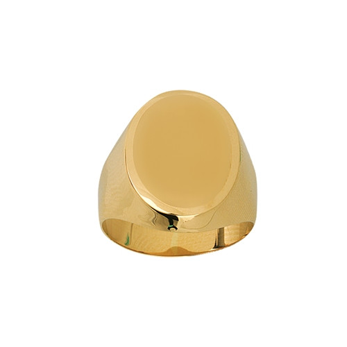 Signet Oval Plate Ring