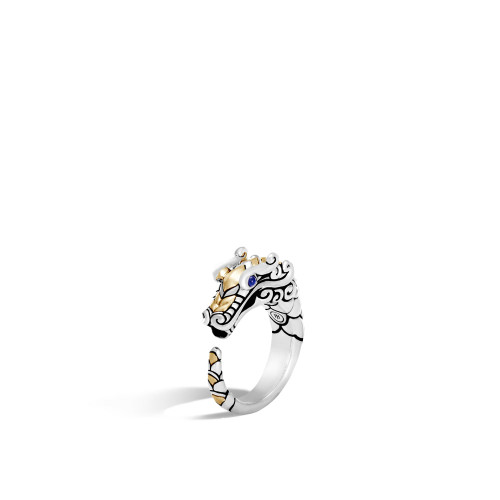 Legends Naga Dragon Ring with Blue Sapphire Eyes