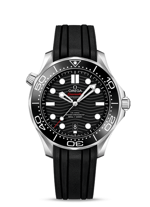 Seamaster Diver 300M Omega Co-Axial Master Chronometer 42 mm Black Dial