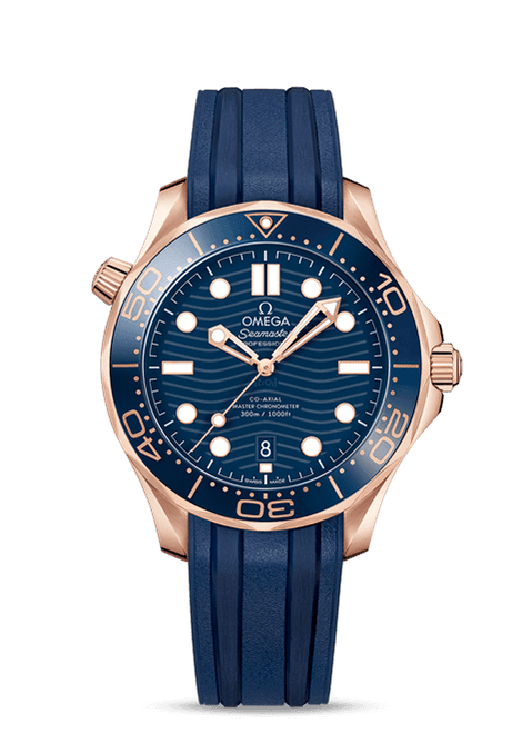 Seamaster Diver 300M Omega Co‑Axial Master Chronometer 42 mm Blue Dial