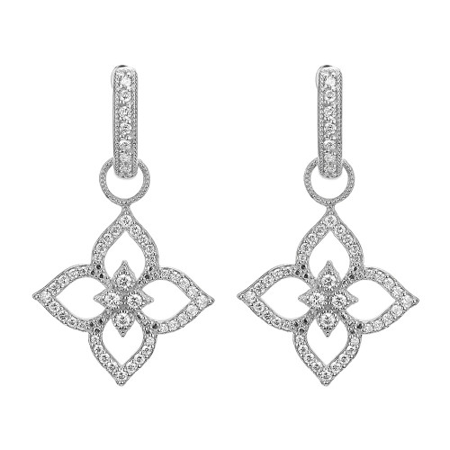 Moroccan Flower Pave Earring Charm