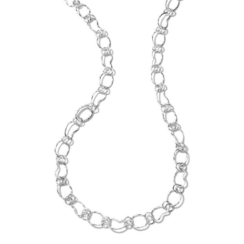 Long Hammered Prosper Chain Necklace