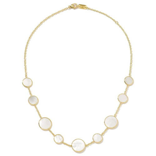 Rock Candy Mother of Pearl Station Necklace