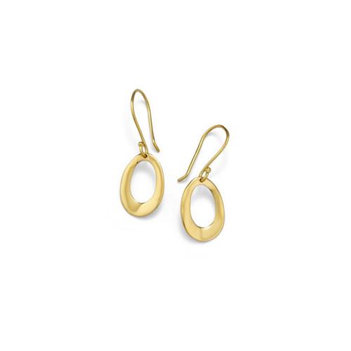 18KT Mini Wavy Oval Earrings