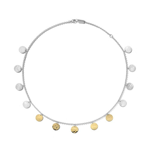 Hammered Paillette Disc Necklace