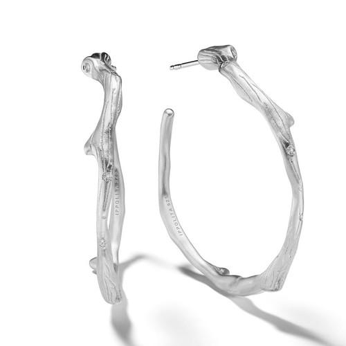 Large Branch Hoop Earrings
