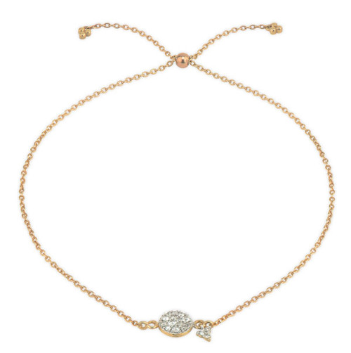 Petite Pave Diamond Circle Chain Bracelet