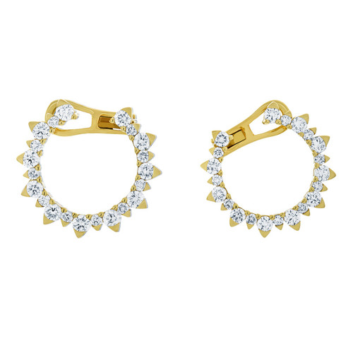 Semi Circle Diamond Earrings