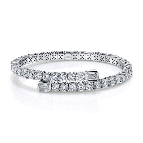 Diamond Soft Flexible Spiral Bangle