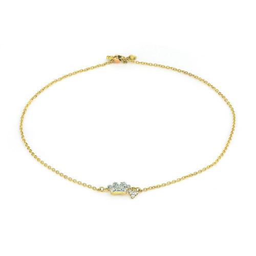 Petite Diamond Pave Paw Chain Bracelet