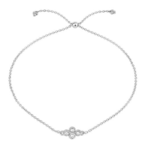 18KT Petite Diamond Quad Chain Bracelet